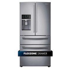 Samsung 28CuFt 4-door Refrigerator with FlexZone Drawer in Stainless Steel