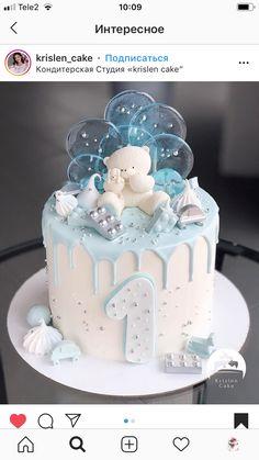cake pops Cake to reserve Ramenskoye ( Baby First Birthday Cake, Cute Birthday Cakes, Cake 1 Year Boy, Bolo Cake, Cake Shapes, Dream Cake, Baby Shower Cakes, Baby Boy Cakes, Cute Cakes