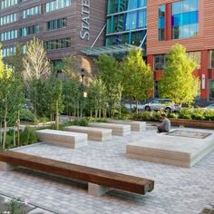 Channel Center Park and Iron Street Park by Halvorson Design Partnership