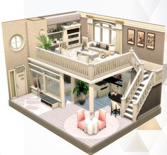 Building A House 310607705552557975 - The Sims 4 creations by agathea Source by jminxhenminchen Sims 4 House Plans, Sims 4 House Building, Building Games, Sims 4 House Design, Small House Design, Casas The Sims 3, Sims 4 Loft, Casas The Sims Freeplay, Sims Freeplay Houses