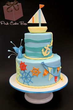 Nautical Themed Cake by Pink Cake Box