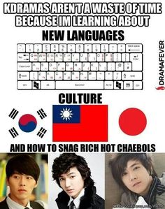 I actually like their culture and language. The Korean language is different but more interesting than English, and thanks to Kdramas, I have tried many Korean foods. Moorim School, Drama Fever, Kdrama Memes, Meme Center, Japanese Drama, Lee Min Ho, Bigbang, Life Lessons, Fangirl