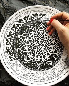 Mandala and Zentangle Artworks to InspireDiscover recipes, home ideas, style inspiration and other ideas to try.No photo description available.Patience is key. Mandala Art, Design Mandala, Mandala Drawing, Mandala Painting, Dot Art Painting, China Painting, Pottery Painting, Ceramic Painting, Ceramic Art
