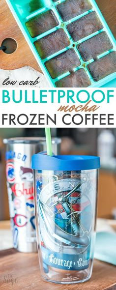 This bulletproof frozen mocha coffee recipe is perfect for low carb or ketogenic diets. Also enjoy iced instead of frozen. Easy and delicious! via @730sagestreet