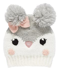 33 Ideas crochet cat beanie pattern free knitting for 2019 Baby Hats Knitting, Baby Knitting Patterns, Knitted Hats, Summer Knitting, Crochet Bunny, Crochet Baby Hats, Penguin Hat, Baby Girl Beanies, Cardigan Bebe