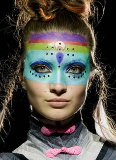 Fashion in Motion: Manish Arora, September 2007. l Victoria and Albert Museum #runway #makeup