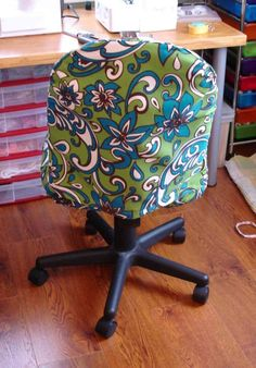 Office Chair Slipcover Tutorial - Part 1. obsessive compulsive crafting disorder
