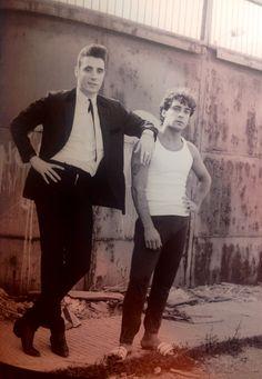 Loquillo con el fotógrafo Jordi García. Barcelona 1983.