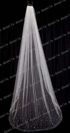 2015 Luxury Stunning 1 T Cathedral Crystal Blings Jewel Diamond Sparklings Edge White/Ivory Long Bridal Wedding Veil  Free Comb-in Bridal Veils from Weddings & Events on http://Aliexpress.com | Alibaba Group