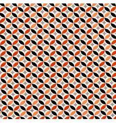 Coton cercle orange