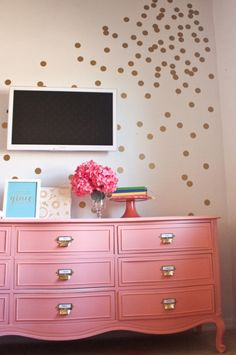 "Kate Spade inspiration // ""Whimsical: These imperfect specks are spot on! Create the look of a party that never ends with confetti-style polka dots. Get artsy with water colored, hand painted dots, in your favorite color. Or take it to the next level and bring polka dots to the third dimension!"""