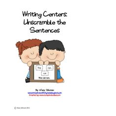 10 weeks worth of differentiated activities for your writing centers