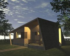 Casa Ecologica MICRO STANDARD - Construcții de case din lemn și case imprimate 3D Skyscraper, Solar, Sweet Home, Multi Story Building, Shed, Outdoor Structures, Mansions, House Styles, Outdoor Decor