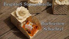 Buchseiten-Schachtel (Ferrero Küsschen)
