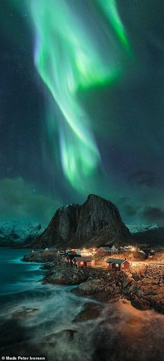 The stunning winners of the panoramic photography awards revealed Mads Peter Iversen came second in the digital art category with this shot of the Northern Lights swirling over Lofoten in Norway Panorama Photography, Photography Awards, Landscape Photography, Nature Photography, Travel Photography, The Art Of Photography, Stunning Photography, Landscape Photos, Lofoten