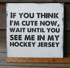 12 x 12 Vintage hockey sign sports team wall art by bonnielecat, $50.00