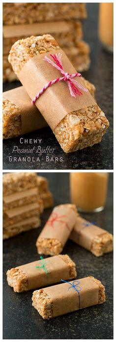 Easiest Microwave Chewy Peanut Butter Granola Bars