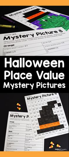 These color by number place value mystery pictures are my favorite Halloween place value activity. I love that there are 8 mystery pictures included in this pack. First Grade Science, First Grade Writing, First Grade Activities, Teaching First Grade, Student Learning, Teaching Math, Math Activities, Teaching Ideas, Number Place Value