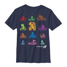 Nintendo Mario Kart Racers Blue Youth Boys 8-20 T-Shirt