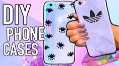cute and easy DIY iPhone cases you need to try! video link :)