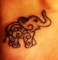 Simple Tribal Elephant @wollerl1302