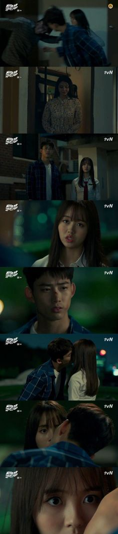 [Spoiler] 'Bring It On, Ghost' Taecyeon surprise kisses Kim So-hyeon-I @ HanCinema :: The Korean Movie and Drama Database Bring It On Ghost, Lets Fight Ghost, Surprise Kiss, Ok Taecyeon, Drama Funny, Kdrama Memes, Drama Movies, Baekhyun, Kisses