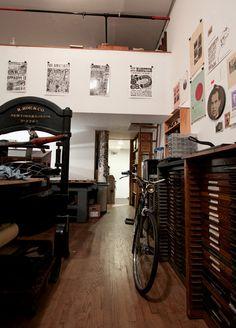 The Arm Letterpress studio