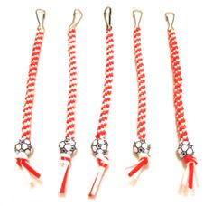 Red and White Soccer Rexlace Keychains by Keys2please on Etsy, $5.00