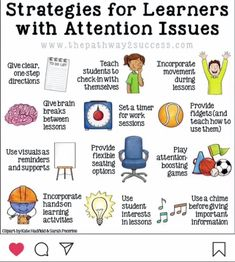 Interventions for Executive Functioning Challenges: Attention Over 20 interventions, strategies, and supports to help teach attention skills to kids and young adults. Being able to focus and pay attention is a requirement for learning! Therapy Activities, Learning Activities, Kids Learning, Anti Bullying Activities, Matter Activities, Social Skills Activities, Classroom Management Strategies, Learning Stations, Learning Shapes