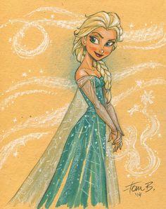Elsa in COLOR by tombancroft.deviantart.com on @deviantART