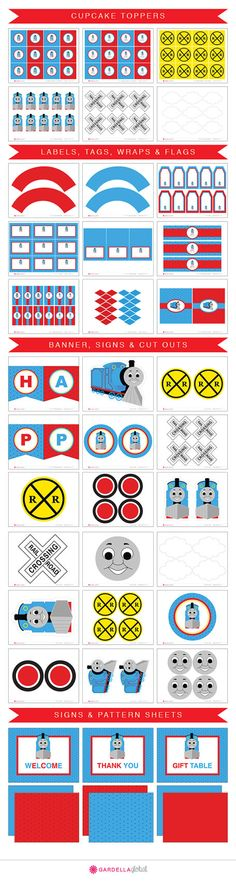 Thomas the Train Party Printables