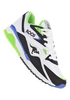 Hippe Kangaroos Runaway ROOS 001 (Wit) Sneakers van het merk Kangaroos voor  . Uitgevoerd in Wit gemaakt van Textiel kunstleer textiel.