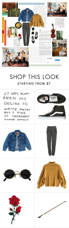 """""""how's life in a PG world?"""" by silentrose ❤ liked on Polyvore featuring Vans, Levi's, Glamorous and messyhairedream"""