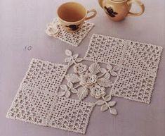 Transcendent Crochet a Solid Granny Square Ideas. Inconceivable Crochet a Solid Granny Square Ideas. Crochet Doily Diagram, Crochet Doily Patterns, Crochet Art, Crochet Squares, Crochet Home, Thread Crochet, Irish Crochet, Crochet Motif, Crochet Designs
