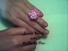 (Polymer Clay) Como Hacer un Anillo de Flor en Fimo (Conjunto de Pendientes…