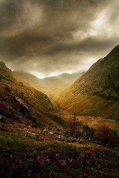 Highland Storm, Glen Coe, Scotland                                                                                                                                                                                 More