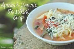 My Current Favorite Cold Front Meal: Spinach Tortellini Soup