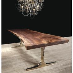This table by Hudson Furniture is amazing! We totally want a table like this Furniture Dining Table, Dining Table Design, Modern Dining Table, Solid Wood Furniture, Dining Room Table, Wood Table, Furniture Design, Slab Table, Luxury Furniture