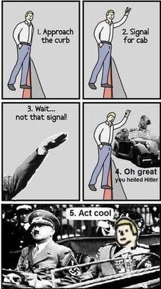 I hailed hitler