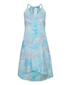 Look at this #zulilyfind! Blue & Purple Tie-Dye Organic Skater Dress #zulilyfinds