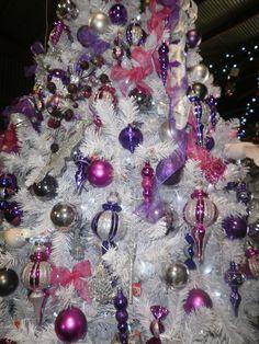 Xmas Stuff For > Purple Christmas Tree Decorating Ideas
