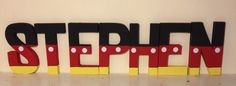 Mickey Mouse inspired character wall letters. www.facebook.com/missylissyletters