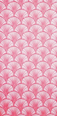 styalized gingko wallpaper candy pink (mimou)
