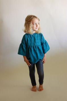 September Tunic & Dress / PDF sewing pattern / sizes toddler 12m to girls 10/12 / Instant download