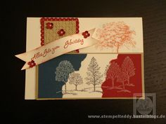 Geburtstagskarte Stempelset Lovely as a Tree Stampin Up  SU