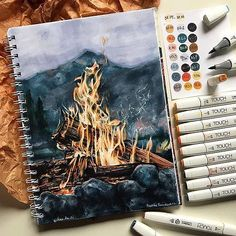 ❤️English version is in first comment 👇🏼 … – … - Kunst Skizzen Art Inspo, Inspiration Art, Arte Bar, Art Et Design, Arte Sketchbook, Illustration Sketches, Art Sketches, Painting & Drawing, Fire Painting