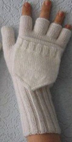 Ideas For Crochet Mittens Tricot Knitted Mittens Pattern, Fingerless Gloves Knitted, Crochet Mittens, Crochet Gloves, Knitted Hats, Kids Knitting Patterns, Knitting Stitches, Knitting Socks, Knitting Accessories