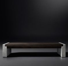 RH Modern's Concrete Pier Coffee Table                                                                                                                                                      More