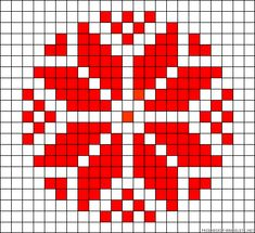 tapestry crochet pattern or Slavic perler bead pattern Tapestry Crochet Patterns, Bead Loom Patterns, Perler Patterns, Beading Patterns, Folk Embroidery, Cross Stitch Embroidery, Cross Stitch Designs, Cross Stitch Patterns, Bordado Tipo Chicken Scratch