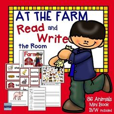 VOCABULARY WORDS INCLUDED: barn, beef cow, bull, calf, cat, chick, cornstalks, dairy cow, dog, donkey, duck, duckling, farmer, foal, goat, goose, gosling, hay, hay wagon, hen, horse, kitten, lamb, mule, nest, pig, piglet, puppy, rabbit, ram, rooster, shee
